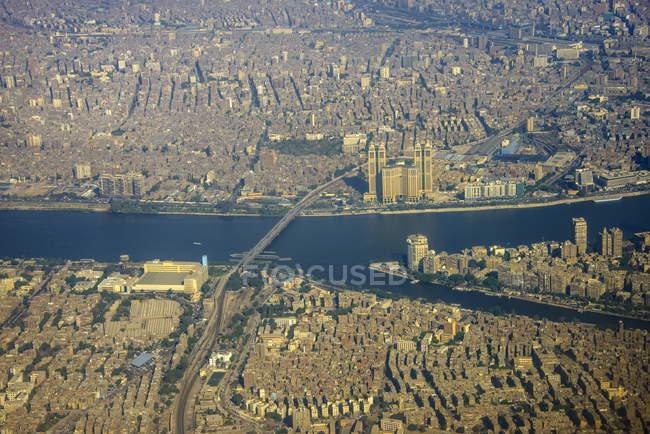 Centro del Cairo e Nilo — Foto stock