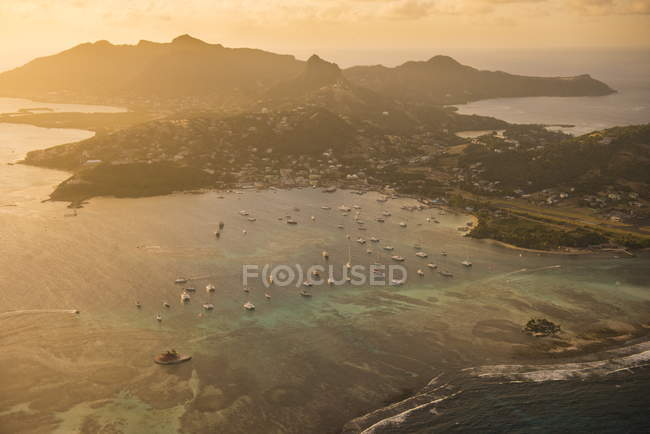 Union Island at sunset — Stock Photo