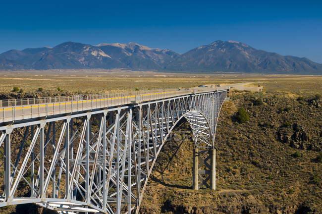 Rio Grande Gorge Bridge and US Route 64 — Stock Photo