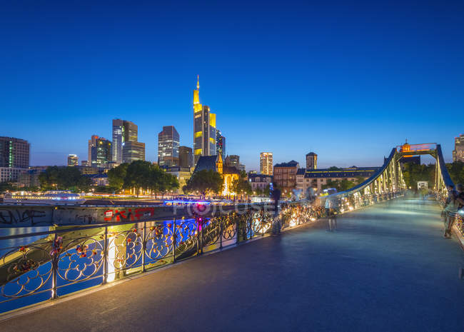 Die Skyline der Stadt Frankfurt Am Main — Stockfoto
