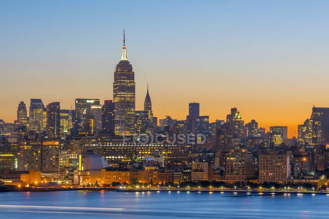 Нью-Йорк skyline з Midtown — стокове фото