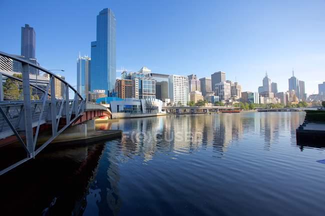 Skyline Yarra et ville — Photo de stock