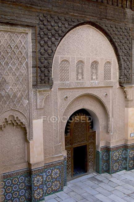Design na Medersa Ben Youssef — Fotografia de Stock