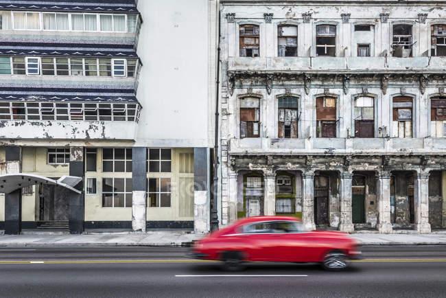Улица Малекон с зданий — стоковое фото