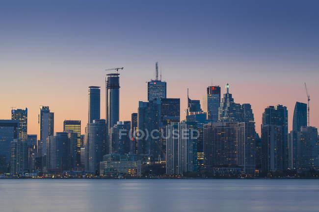 Vista del skyline de la ciudad, Toronto - foto de stock