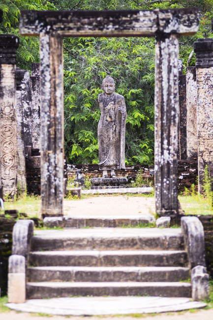 Статуя Будды каменные руины — стоковое фото