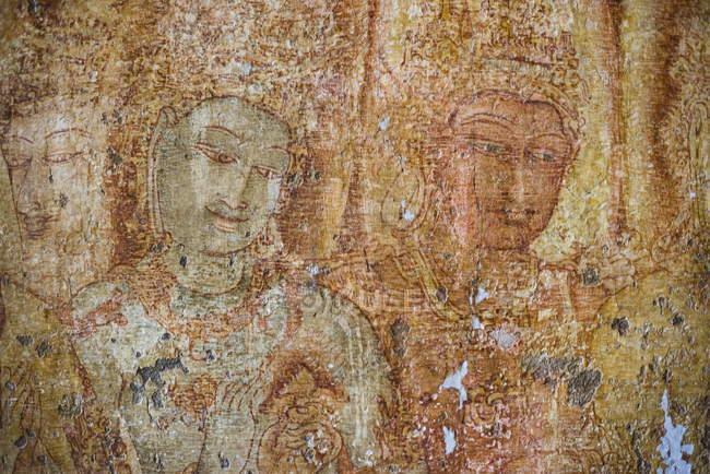 Frescos budistas de Tivanka imagen casa - foto de stock