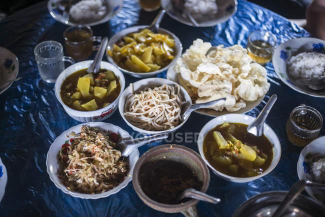 Burmese food in Pankam Village — Stock Photo