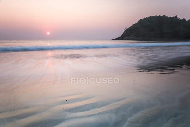 Paradise Beach at sunset — Stock Photo