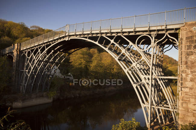 View of Ironbridge in Shropshire — Stock Photo