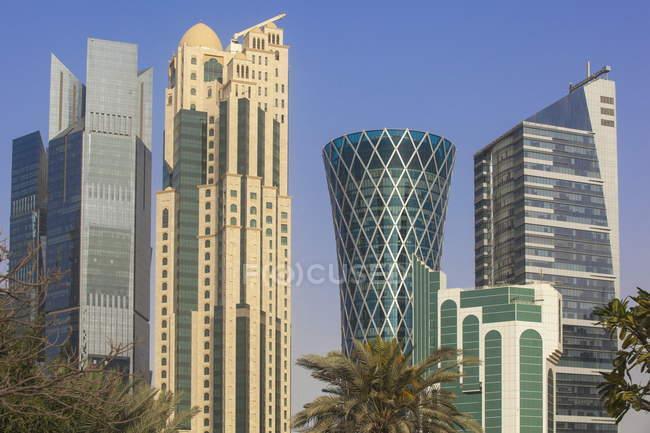 Edifícios de West Bay, Doha — Fotografia de Stock