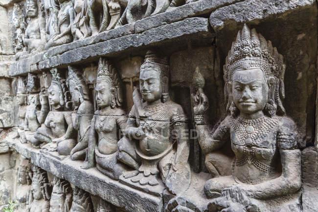 Terrazza del re lebbroso in Angkor Thom — Foto stock