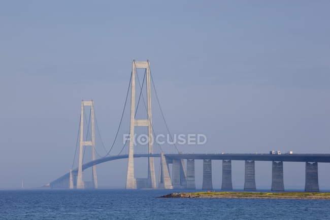 Перегляд Nyborg Korsor міст — стокове фото