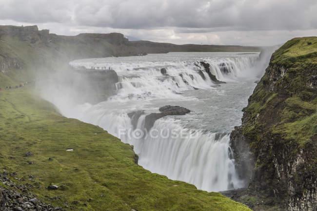 Гульфосс, Золотой водопад — стоковое фото