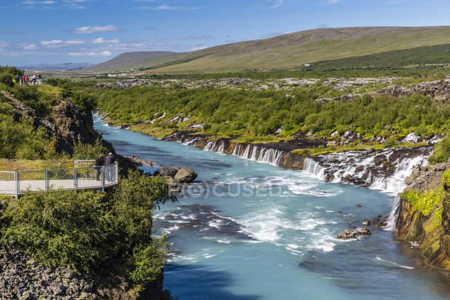 Храунфоссар, серия водопадов — стоковое фото