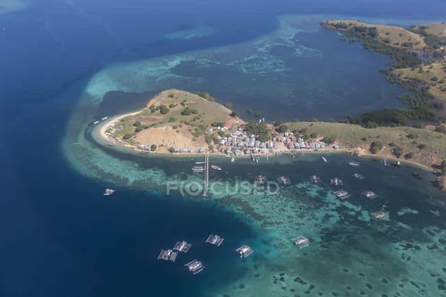 Vista aérea de isla de Flores - foto de stock