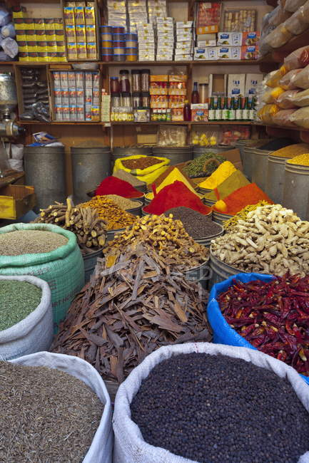 View of Spices store — Stock Photo