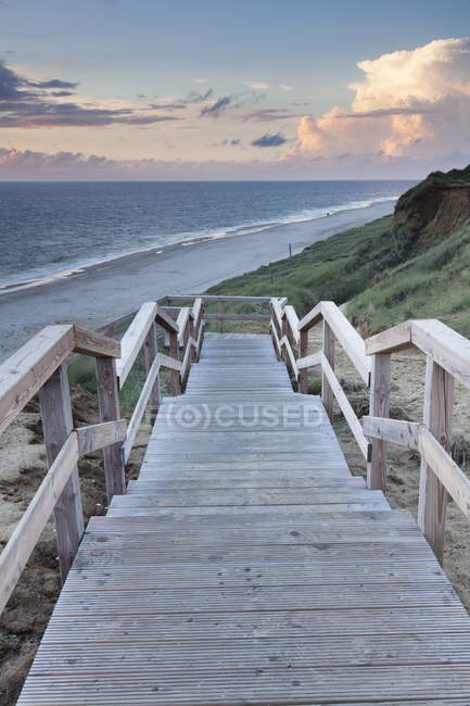 View of Red Cliff in Kampen — Stock Photo