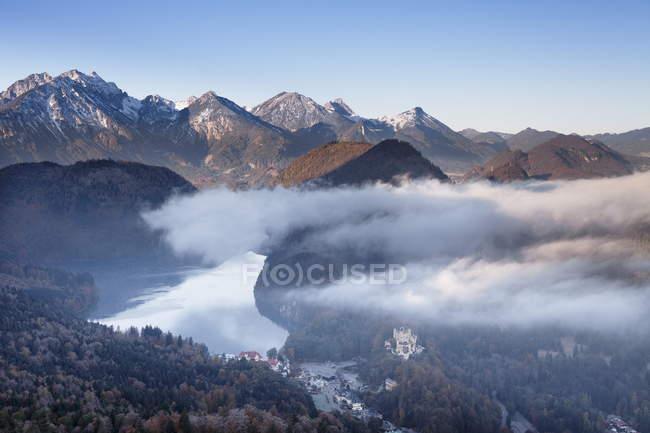 Vue du lac Alpsee — Photo de stock