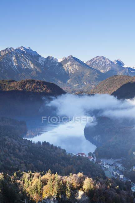 Blick auf Alpsee See — Stockfoto