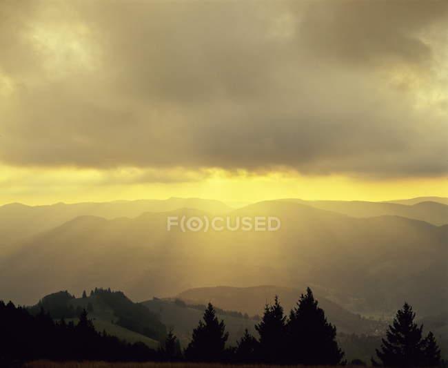 Sonnenaufgang am Belchen Berg — Stockfoto
