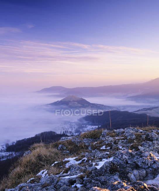 Blick vom Breitenstein mountain — Stockfoto