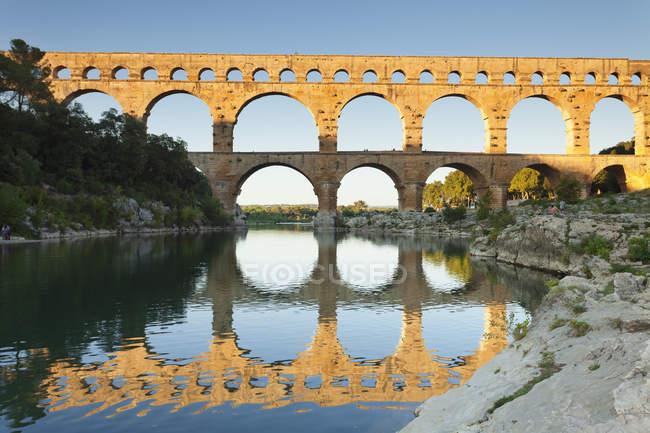Pont du Gard, Roman aqueduct - foto de stock
