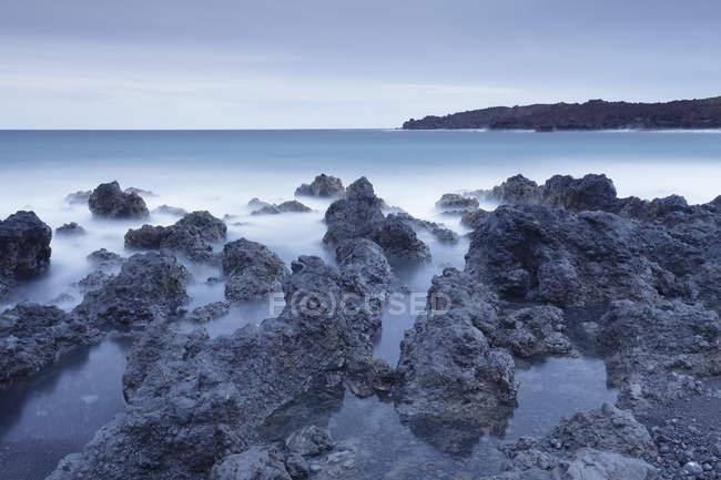 Lava coast near Los Hervideros — Stock Photo