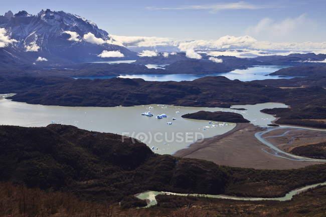 Splendida vista dei laghi — Foto stock