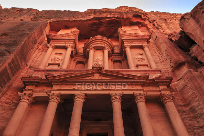 View of Treasury in Petra — Stock Photo