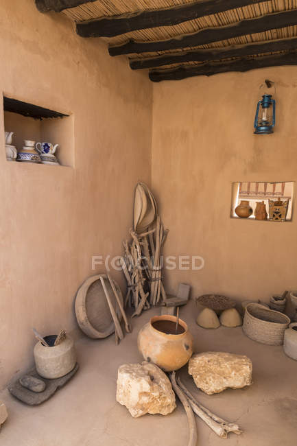 Furnished interior of Taqah — Stock Photo