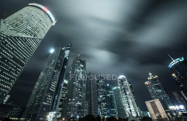 Lujiazui skyscrapers, Shanghai — Stock Photo