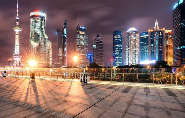 Paisagem urbana Shanghai Lujiazui — Fotografia de Stock