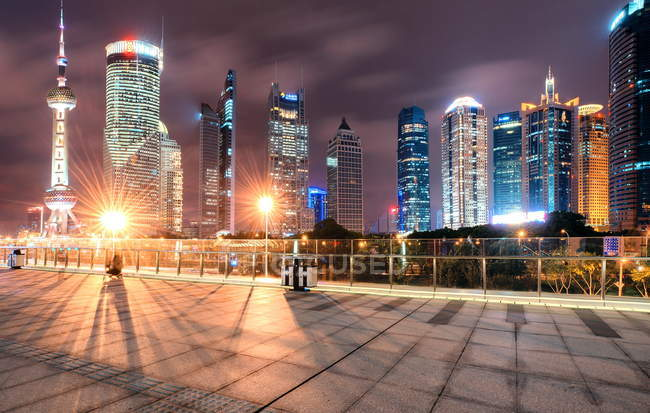 Cityscape Shanghai Lujiazui — Stock Photo
