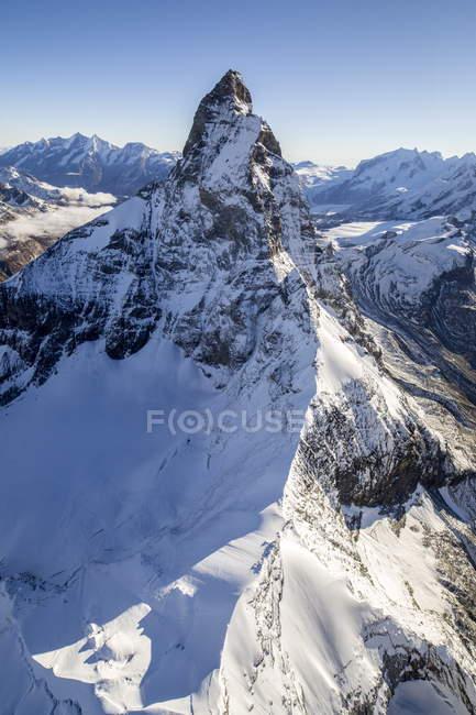 Luftbild auf Matterhorn Berg — Stockfoto