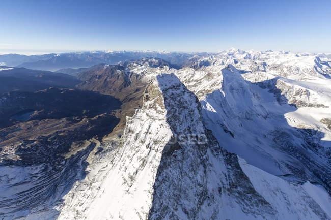 Vue aérienne sur le Cervin — Photo de stock