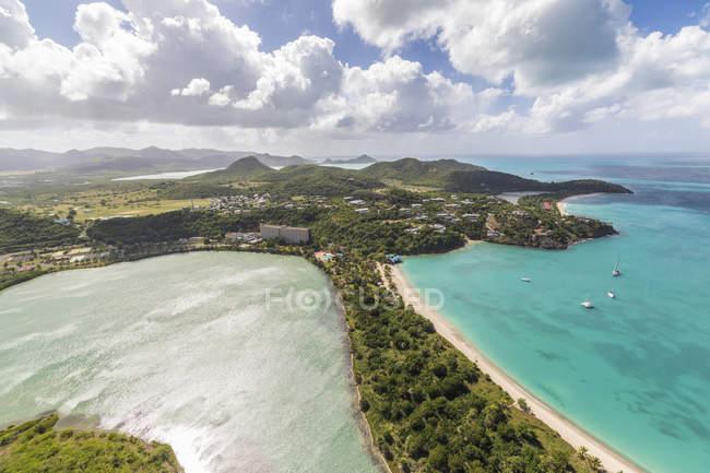 Lagoon on Caribbean island of Antigua — Stock Photo