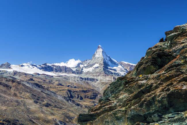 Overview of the Matterhorn,. Zermatt — Stock Photo