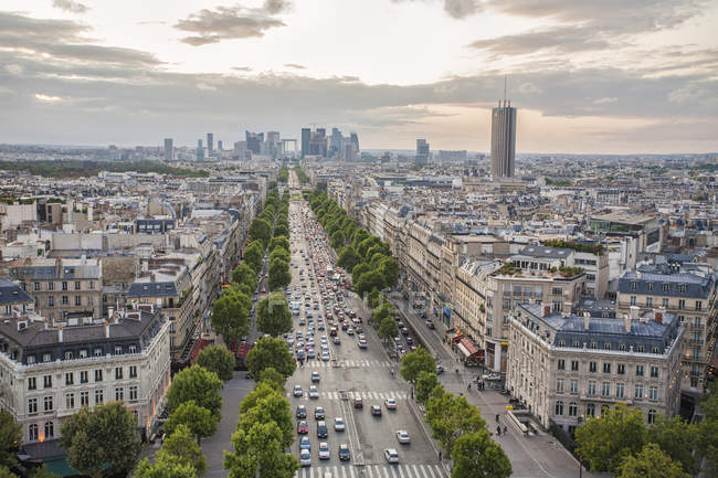 View over Champs Elysees — Stock Photo
