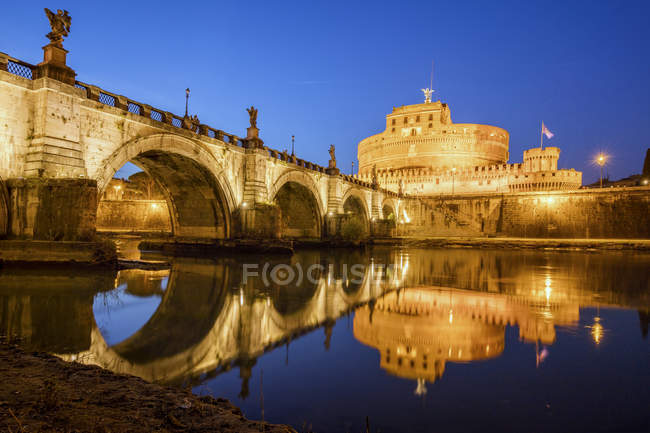 Bridge on Tiber RIver — Stock Photo