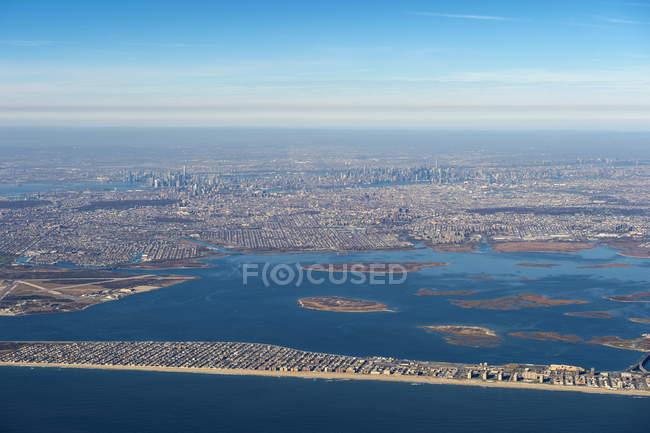 Антенна из Нью-Йорка — стоковое фото