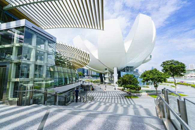 Shoppes at Marina Bay Sands und Artscience Museum — Stockfoto