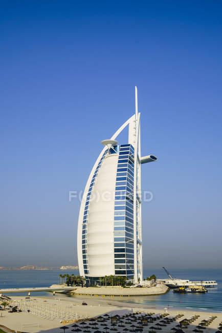 Отель Бурдж аль-Араба — стоковое фото