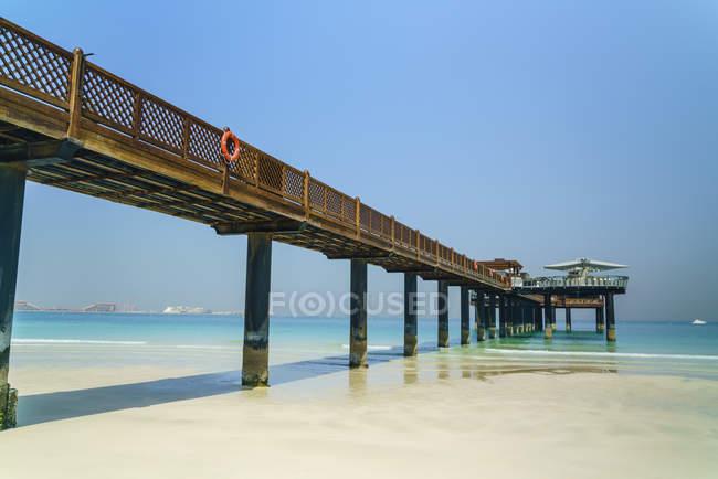 Cais na Praia Jumeirah — Fotografia de Stock