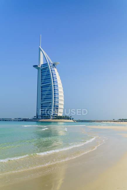 Vista do burj al arab hotel — Fotografia de Stock