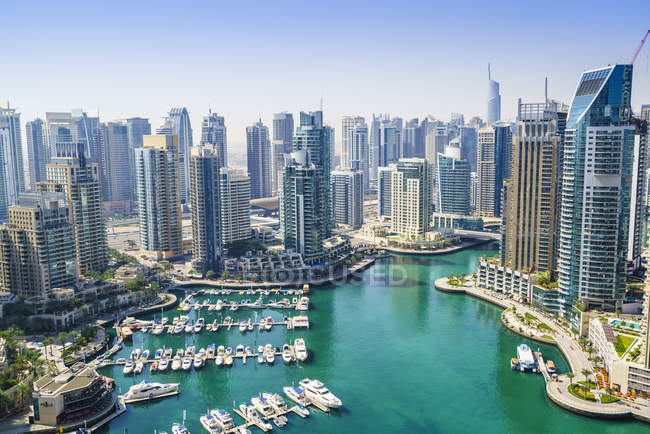 Висока вид на Дубай Марина — стокове фото