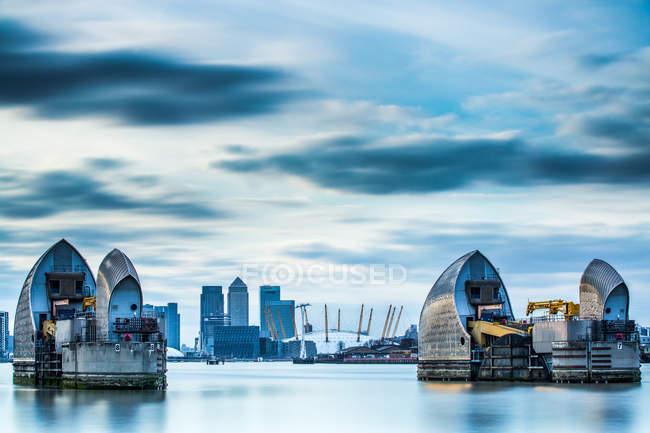 Thames Barrier on River Thames — Stock Photo