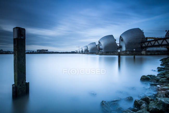 Thames Barrier on the River Thames — Stock Photo