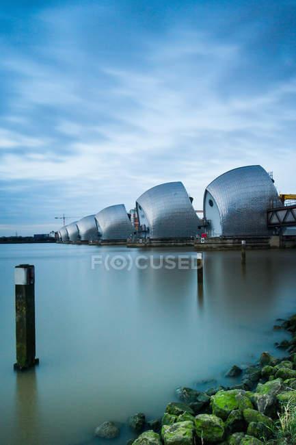 Thames Barrier auf der Themse — Stockfoto