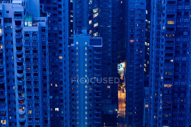 View of Hong Kong buildings — Stock Photo